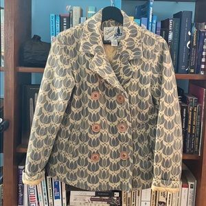 Tulip pattern pea coat